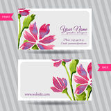 Elegant business card with bouquet of flowers Royalty Free Stock Photo