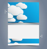 Elegant business card design template Royalty Free Stock Photo