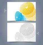 Elegant business card design template Stock Photography