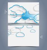 Elegant business card design template Royalty Free Stock Photos