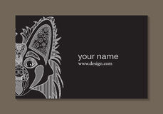 Elegant Business Card With A Dog. Royalty Free Stock Images