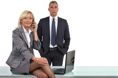 Elegant business couple Stock Photography