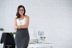 Elegant business lady Stock Images