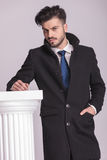 Elegant business man holding one hand in his pocket Royalty Free Stock Image