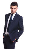 Elegant business man looking down Royalty Free Stock Photography