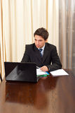 Elegant business man in office Royalty Free Stock Image