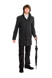 Elegant business man in a raincoat Royalty Free Stock Photo