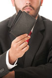 Elegant business man showing his wallet Stock Photo
