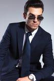 Elegant business man wearing sunglasses Royalty Free Stock Photography