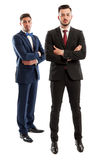 Elegant business men wearing expensive suits Royalty Free Stock Images