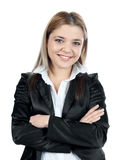 Elegant business woman posing and smiling to camer Stock Photos