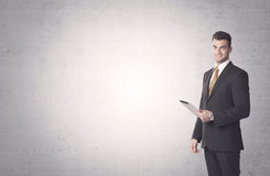 Elegant businessman with clear background Royalty Free Stock Images
