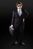 Elegant businessman with important documents Stock Images