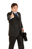Elegant businessman pointing finger at you Royalty Free Stock Photo