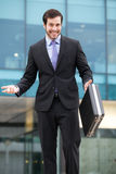 Elegant businessman very serious stock photography