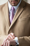 Elegant businessman very serious Royalty Free Stock Images