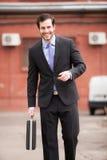 Elegant businessman very serious stock image