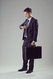 Elegant businessman waiting Royalty Free Stock Images