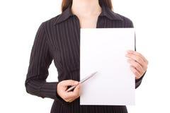 Elegant businesswoman Stock Image