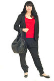 Elegant businesswoman with bag Stock Image