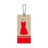 Elegant businesswoman dress icon Stock Photos