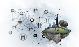 Concept of modern wireless technologies as effective tool for bu Stock Images