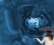 Elegant businesswoman holding umbrella Royalty Free Stock Photos