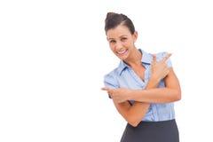 Elegant businesswoman indicating something Royalty Free Stock Photo