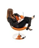 Elegant businesswoman with lap Stock Photos
