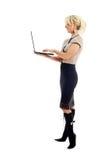 Elegant businesswoman with laptop Stock Photo
