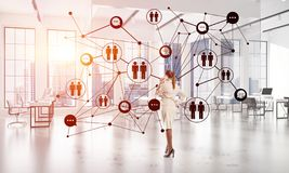 Networking and social communication concept as effective point for modern business royalty free stock photo