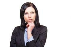 Elegant businesswoman. Portrait of an elegant beautiful businesswoman isolated on white background Royalty Free Stock Photo