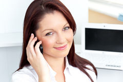 Elegant businesswoman talking on phone Stock Photo