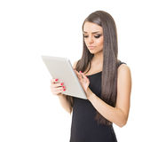 Elegant businesswoman using digital tablet computer Royalty Free Stock Photos