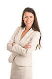 Elegant businesswoman wearing suit Stock Photos