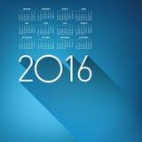 An Elegant 2016 Calendar Stock Images