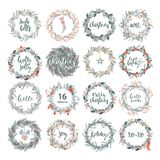 Cute hipster wreaths Royalty Free Stock Photos
