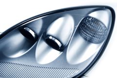 Elegant Car Headlights Royalty Free Stock Photo