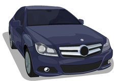 Elegant car. Illustration of a elegant blue car vector illustration