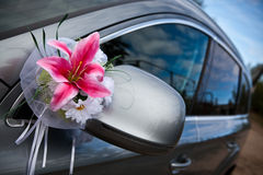 The elegant car for a wedding celebration Royalty Free Stock Photo