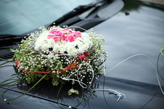 The elegant car for a wedding celebration Royalty Free Stock Photography
