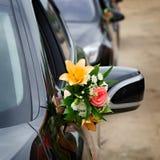 The elegant car for  wedding celebration Royalty Free Stock Photo