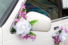 The elegant car for  wedding celebration Stock Photo