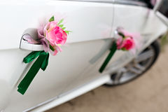 The elegant car for wedding celebration Stock Photo