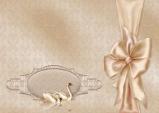 Elegant Card. With a beautiful Wedding Design Stock Photography