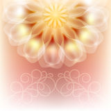 Elegant Card with a beautiful large flower. Stock Images