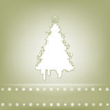 Elegant card with christmas tree. EPS 8. Vector file included Royalty Free Stock Images