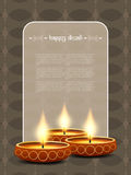 Elegant card design for diwali festival Royalty Free Stock Image
