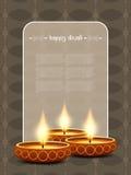 Elegant card design for diwali festival Royalty Free Stock Image