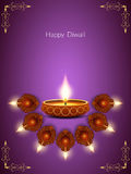 Elegant card design for diwali festival Stock Images